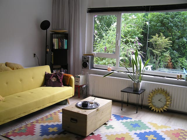 Attractive, clean and bright apartment with garden