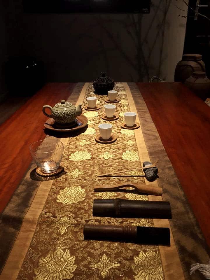 Preparing for the tea ceremony