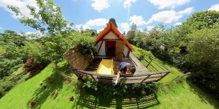 Une cabane dans un lieu privilégié
