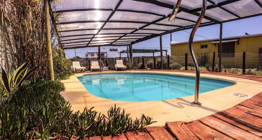 A 140m del mar/piscina climatizada cubierta/hogar