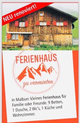 Neu renoviertes Ferienhaus im Malbun zum vermieten
