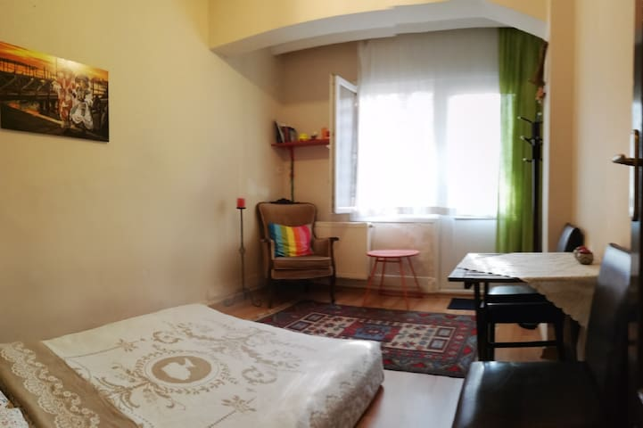 Private Room with Backyard in Cihangir, Taksim