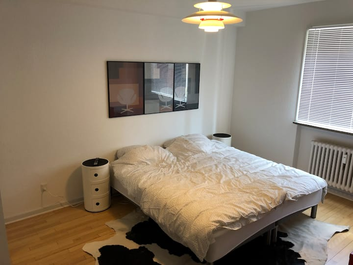 Cozy and next to the University. Free parking.