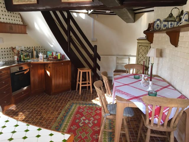 The property is equipped with a fully functioning kitchen.