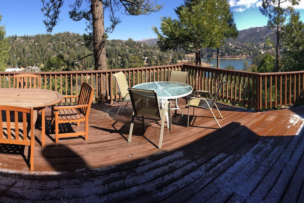 1400 square feet of deck with panoramic views