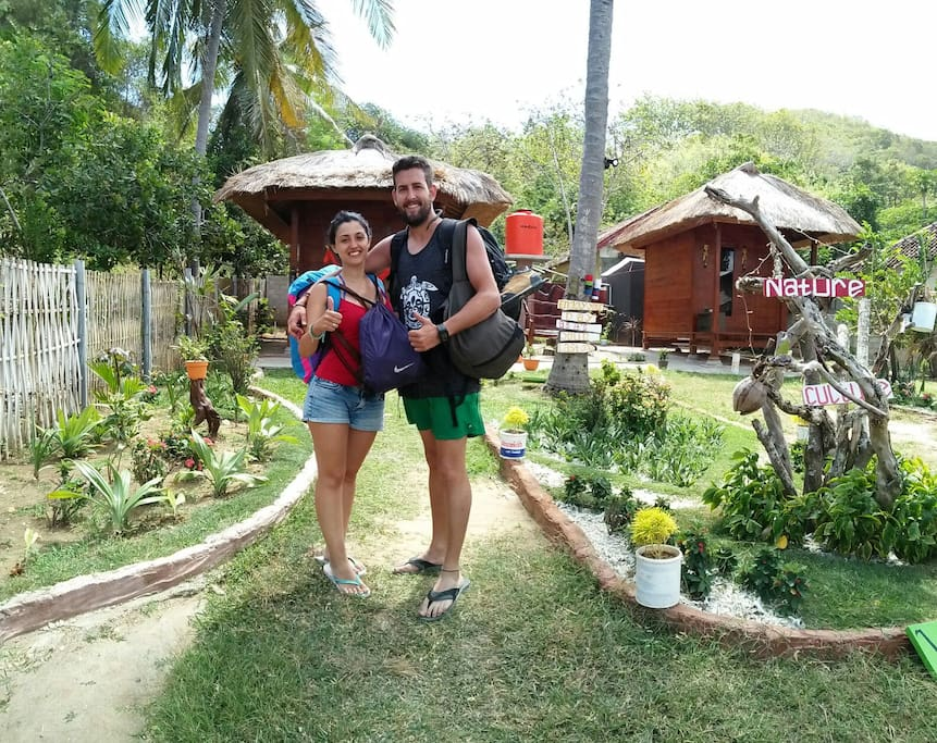 papaya lodge costumer from spain, esttela and alexhandro