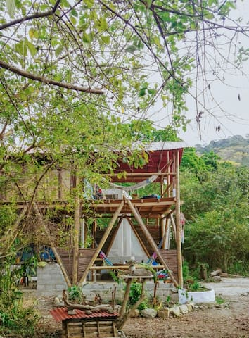 Glamping bamboo teepee - 5'min from the river