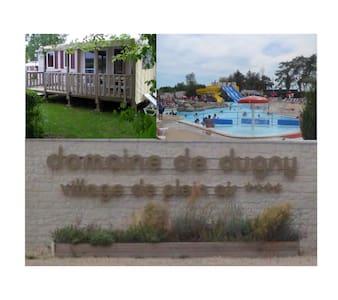 Mobil home 2 chambres avec piscines - Onzain