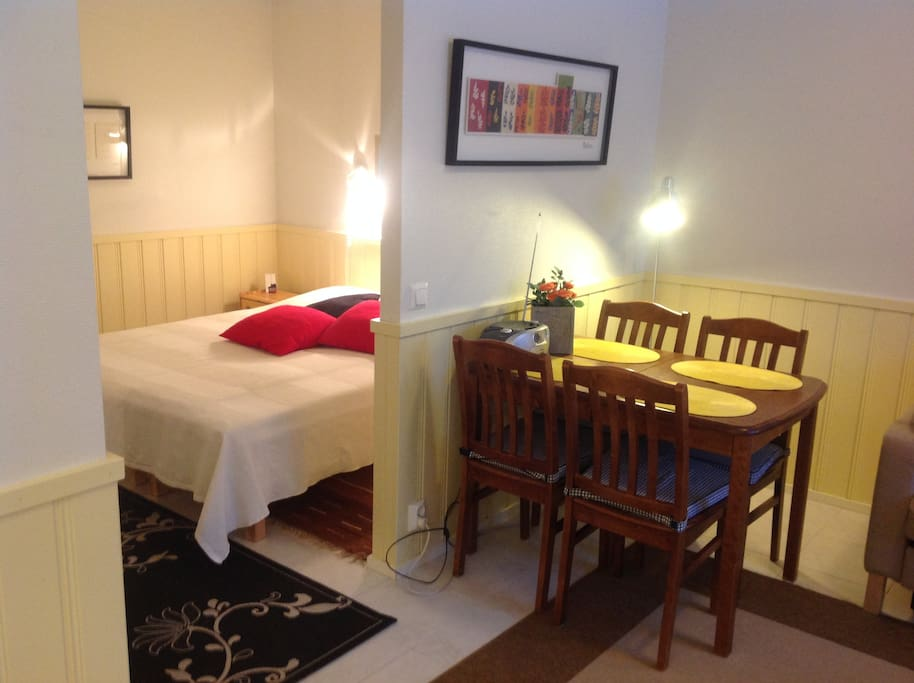 Open bedroom now with doublebed
