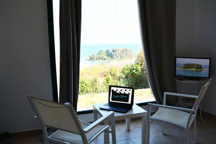 CORFU STORY-BREATHTAKING VIEW HOUSE-THE SEQUEL! - Kerkira - House