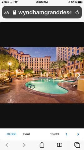 Vegas Wyndham Grand desert- Christmas Dec 20-26
