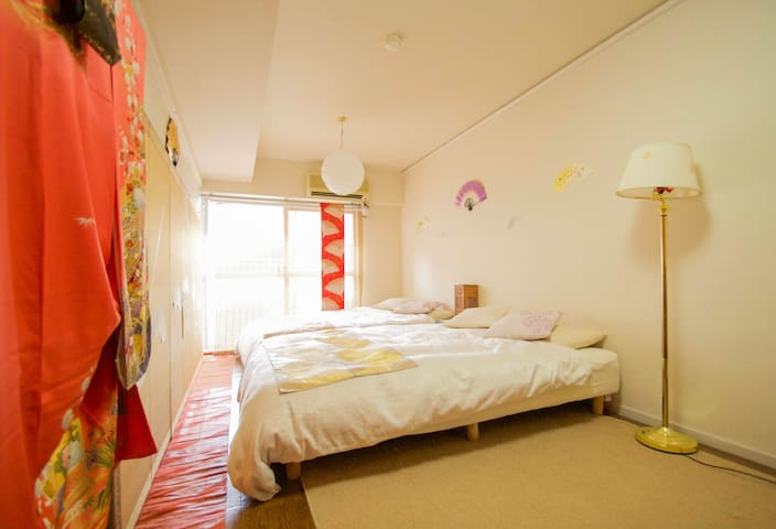 Beautiful Apt. w/ 5 mins walk to Nijo Castle - Kyōto-shi - Apartment