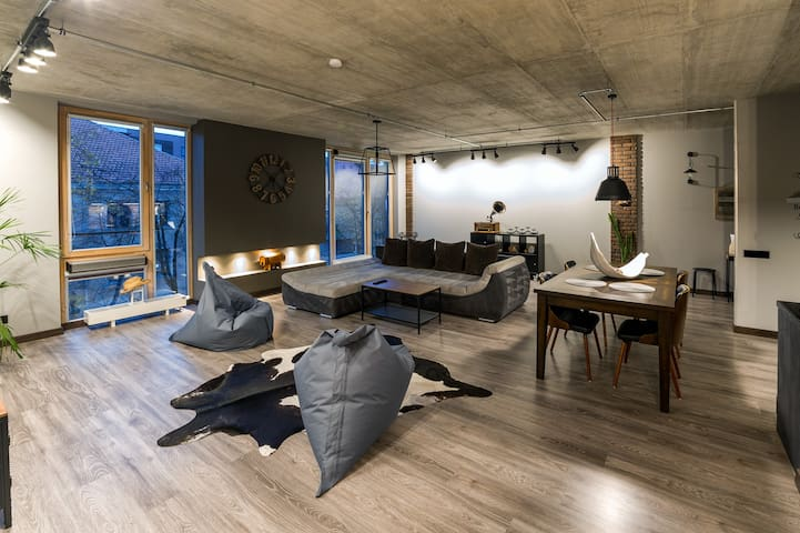 Manto Loft style apartment 85m2+ undergr parking.