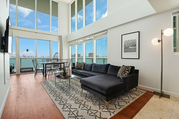 2-Story Waterfront Condo #6-10 mins from Miami Beach, 12 mins from Brickell