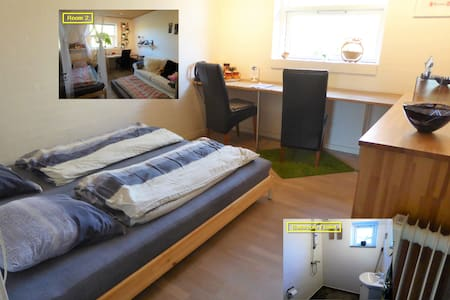 Aarhus N-2 rooms with privat bath/toilet/entrance.