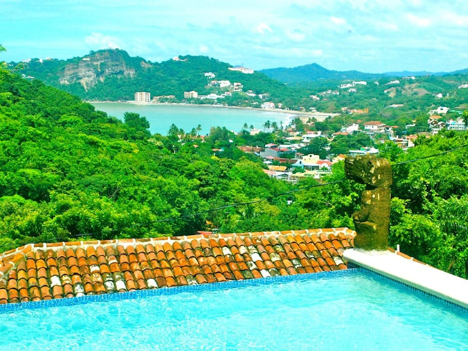View of San Juan del Sur from the pool.