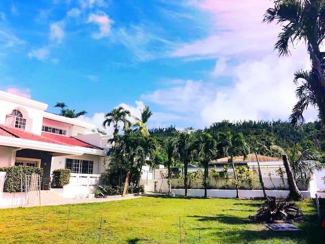 Garapan市中心/高端海景别墅/私家花园/私人泳池/私人影院/网红打卡/团体最佳/低价租车