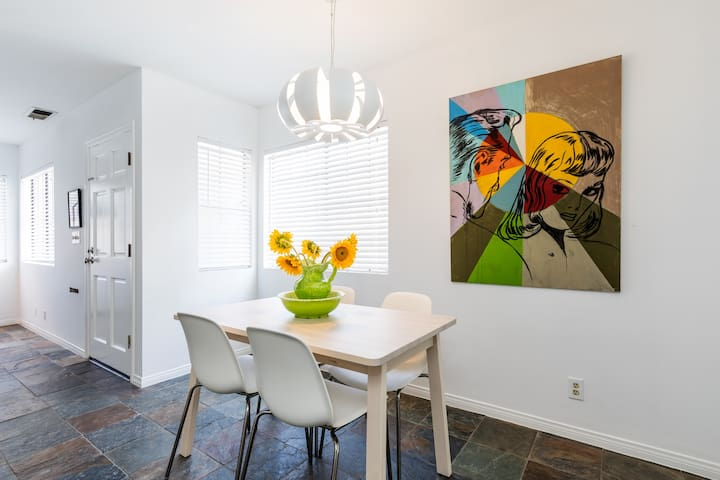 Dining area: original painting by LA Artist