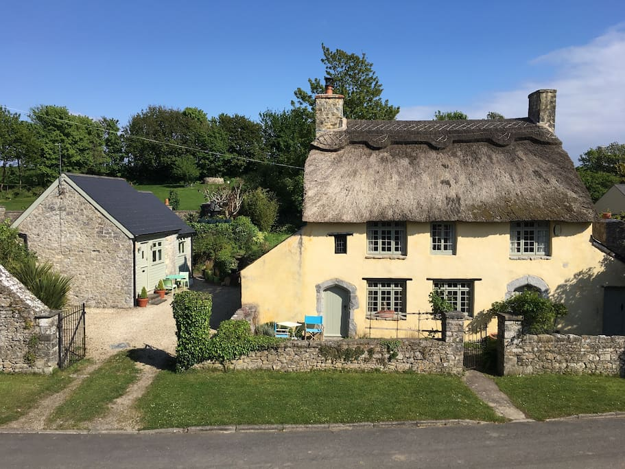 Hay loft (left) and Rose Cottage (right)