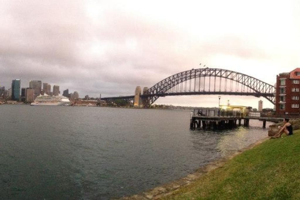 Sydney harbour waterfront location.