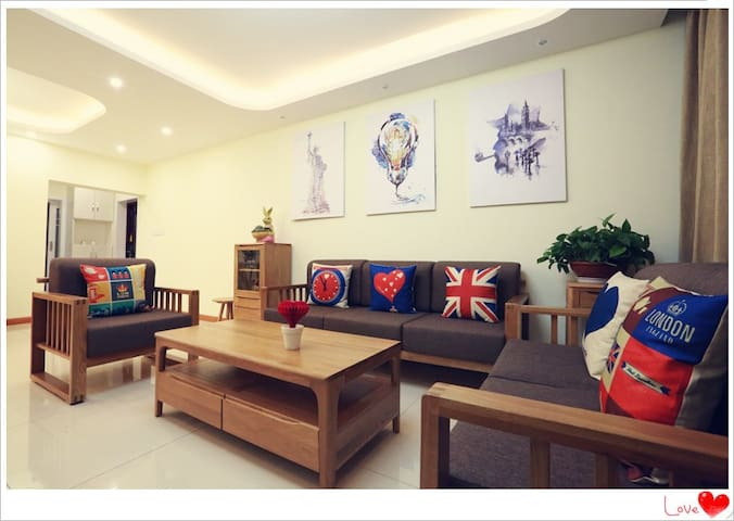 观音桥果子屋,毗邻江北商圈,轻轨3号线出口,128平米三室两厅,配备儿童玩具房 - Chongqing - Huis