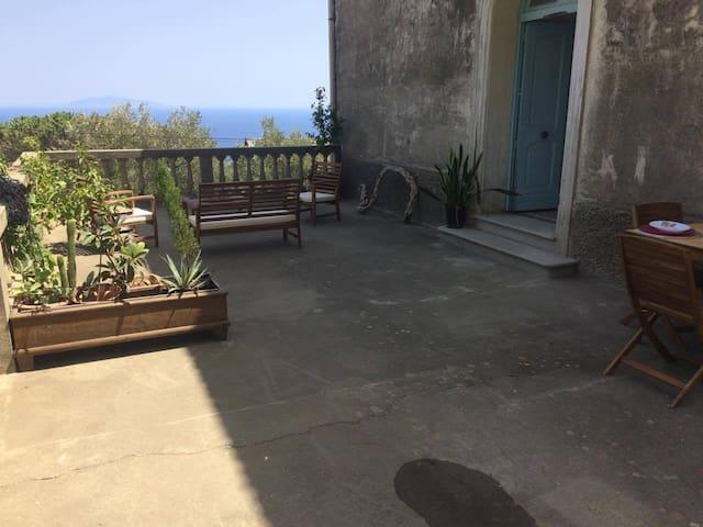 Location Etage dans villa du cap corse