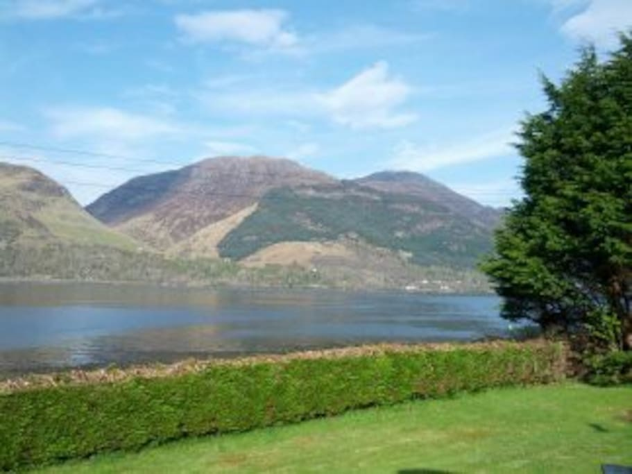View of Loch Duich from the front entrance steps.