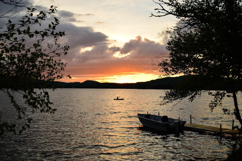 Beautiful sunsets on Back Lake.