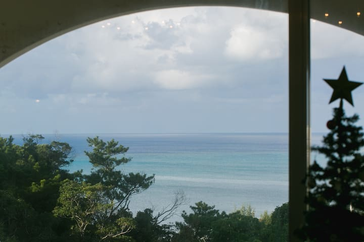 Ocean view!!From all room★全部屋から海の見える高台にあるお家★바다 전망 - Onna - Lägenhet