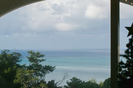 Ocean view!!From all room★全部屋から海の見える高台にあるお家★바다 전망 - Onna