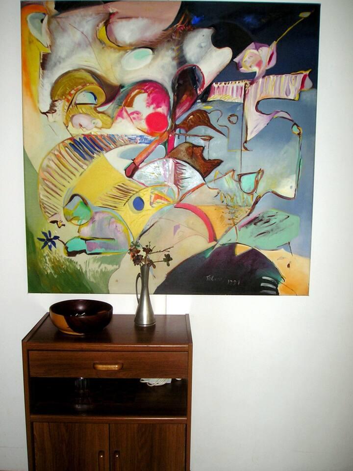 the studio belongs to a painter