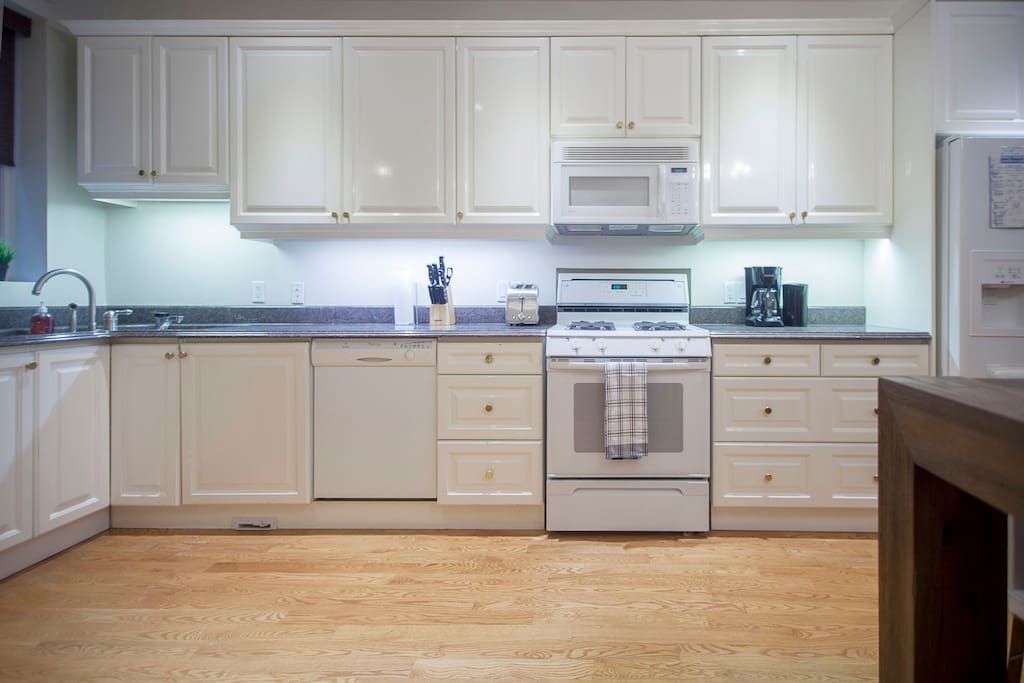 Grand kitchen with loads of counter space