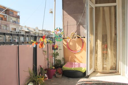 солнечная комната в центре города - Apartmen