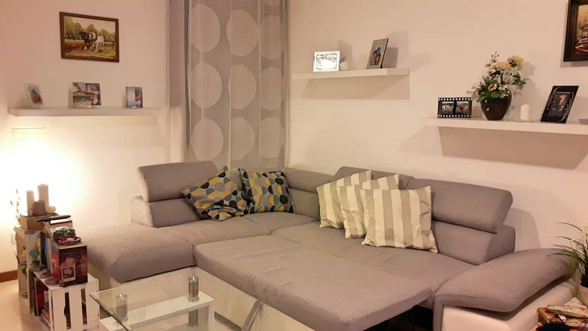 Comfortable couch bed in the living room - Piombino Dese - Apartment