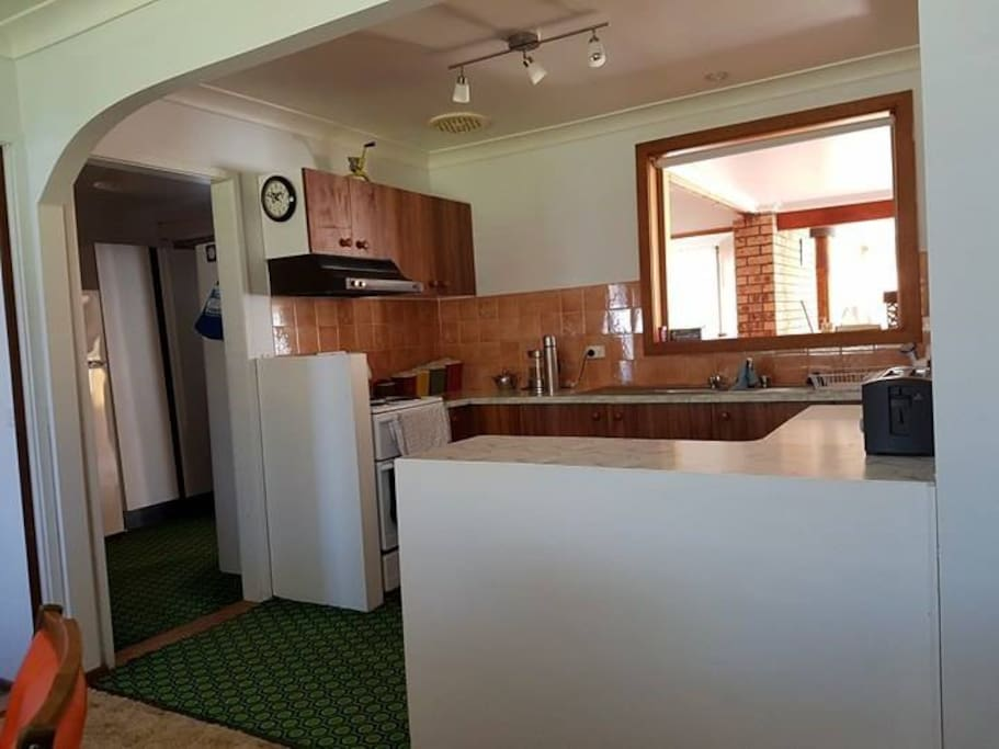 The kitchen is fully equipped so you can arrive and relax on your family getaway.
