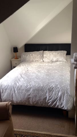 Double on-suite room in a city centre apartment.