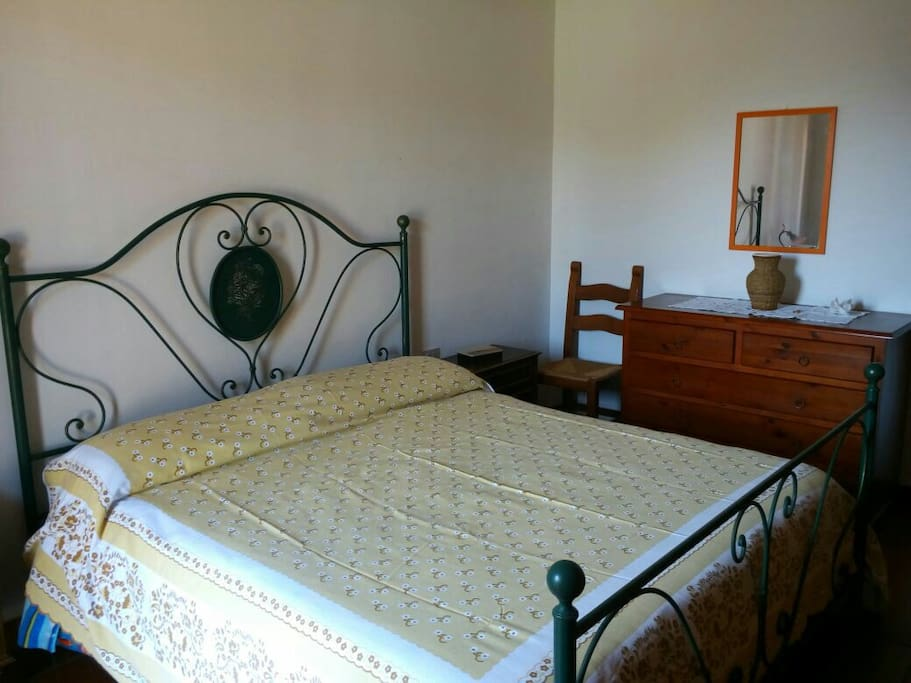 Master double bedroom with double bed king side and wardrobe.