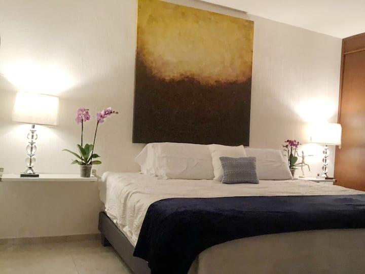 Cómoda Habitación privada de lujo en depa nuevo