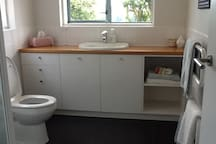 Toilet and vanity in private ensuite