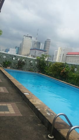 Rooftop swimming pool on 7th floor