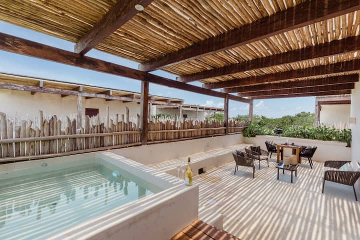 ★ Boho Chic/Terrace with private pool by octopus ★