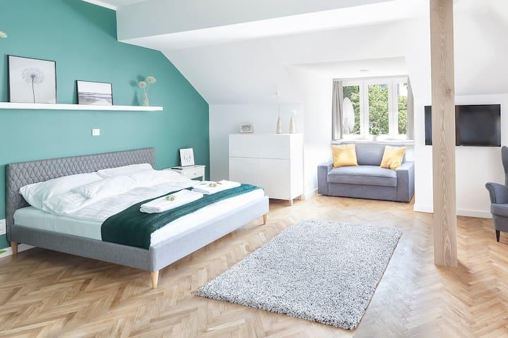 Apartament zielony w super lokalizacji w centrum