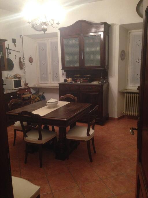 La cucina/sala da pranzo