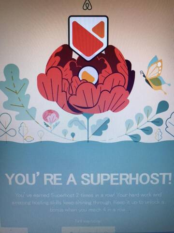 Superhost twice since June 2018 ! Thank you so much all my guests!