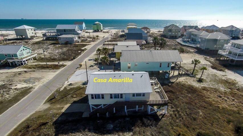 One story 3 BR, 2 BA beachview w/ expansive deck!