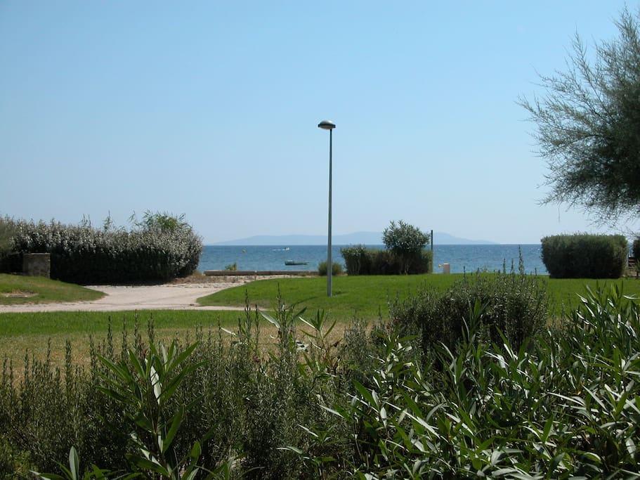 T2 rez de jardin direct sur plage appartements louer for Jardin a l americaine