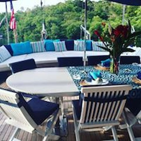 Aft Dining and Sundeck common areas
