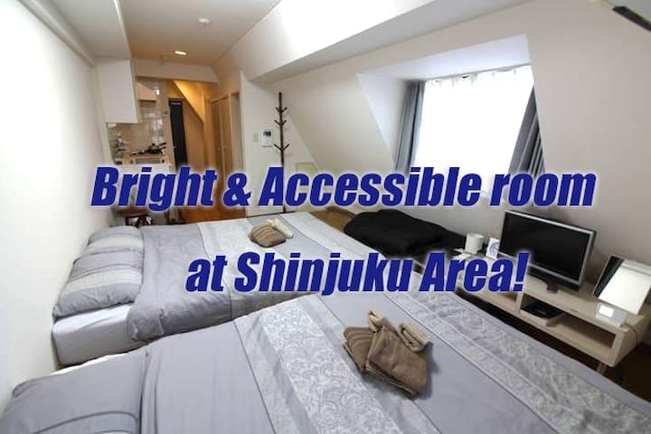 Bright & Accessible room at Shinjuku Area! (F) - Shibuya-ku - Apartamento