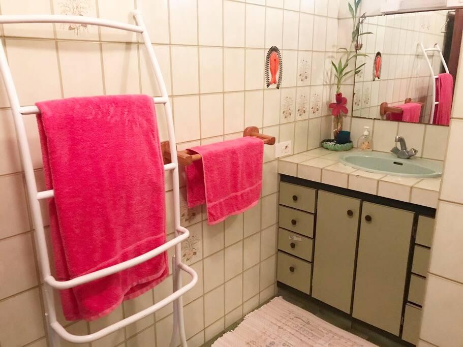 Salle de bain privée toute équipée