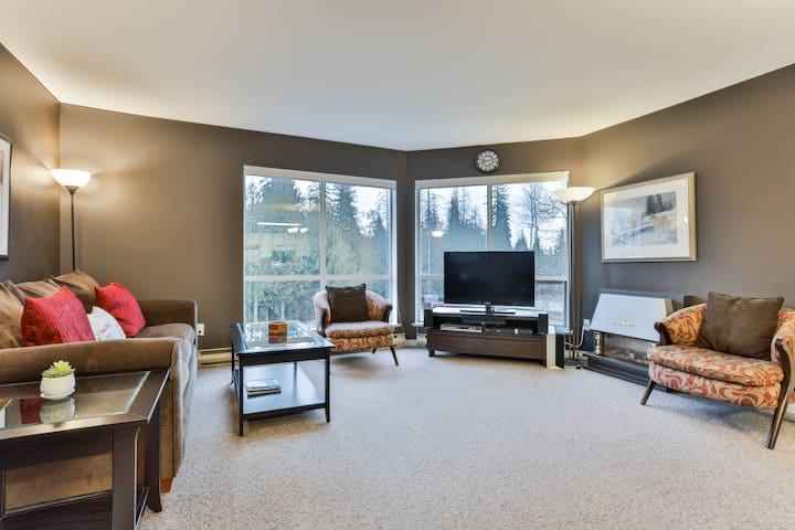 Pleasingly Furnished Ski In Condo up at ski hill